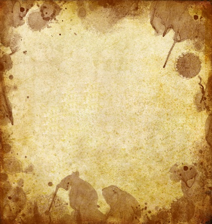 old grunge paper with dirty stained Stock Photo - 9487143