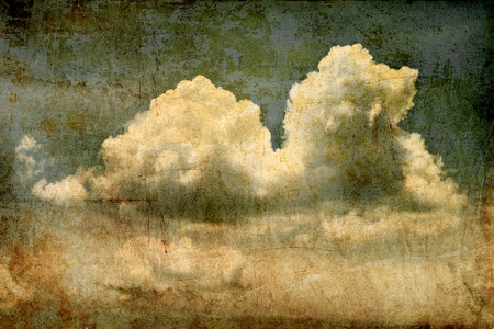 Grunge background of  cloud in the sky photo