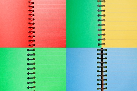 Set of color paper spiral notebooks Stock Photo - 9555215