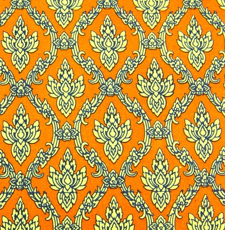 Seamless thai pattern on paper photo