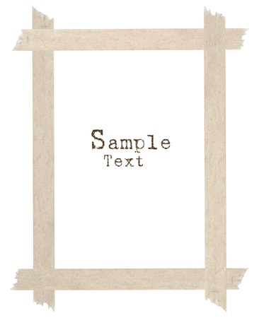 masking: Corner and border from masking tape with sample text