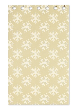 Seamless pattern with snowflake on paper from a notebook  photo
