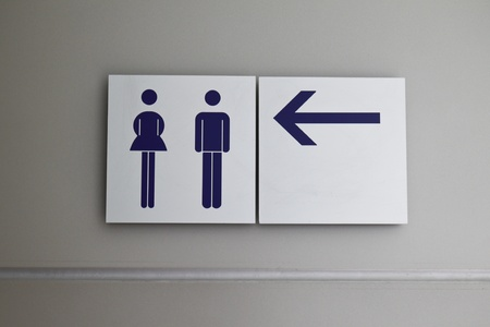 direction board: Toilet sign and direction