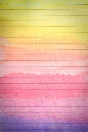 margen: hoja de papel en línea de un portátil con un accidente cerebrovascular colorido pincel de acuarela