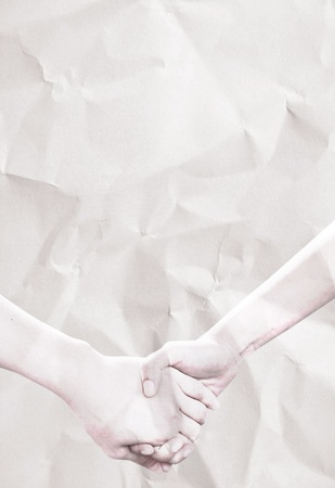 hand holding on crumpled paper Stock Photo - 10329997