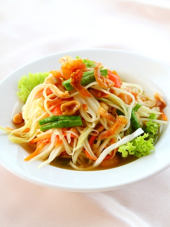 Thai papaya salad also known as Som Tum from Thailand photo