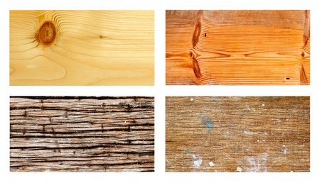 Collection of grunge wood for background photo