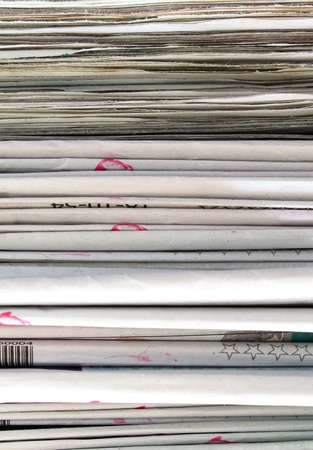 Stack of newspapers  photo