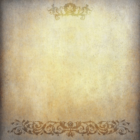 Grunge paper background with vintage pattern photo