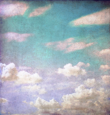 retro styled: Grunge cloudy sky background