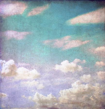 paisaje vintage: Grunge fondo de cielo nublado