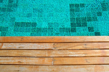 old wood pavement with pool edge background Stock Photo - 11464138
