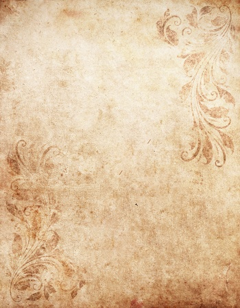 envelope decoration: old grunge paper background with vintage victorian style