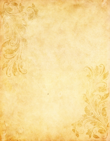 paper background: old grunge paper background with vintage victorian style