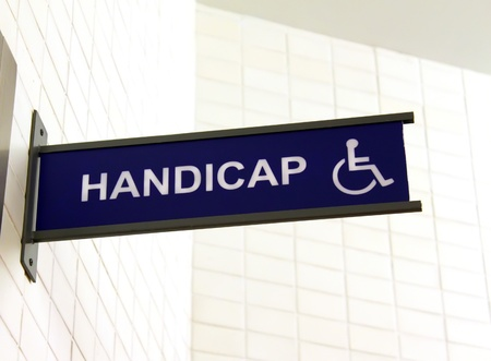 Toilet sign for handicap  photo