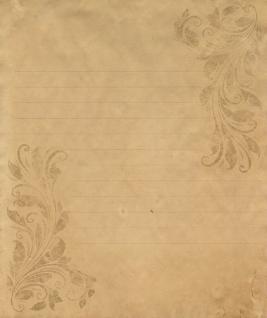 old grunge letter paper with vintage victorian style