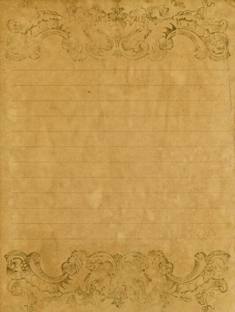 old grunge letter paper with vintage victorian style  Stock Photo - 11809790