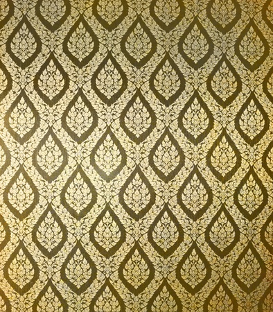 Thai art wall pattern for background Stock Photo - 11878713