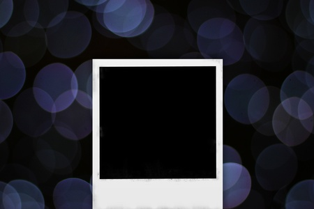 old photo frame on abstract bokeh background photo