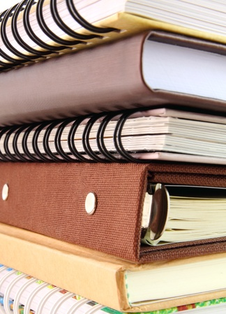 Close up of stack of notebook Stock Photo - 12377730