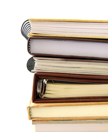 stack of notebook isolated on white background photo