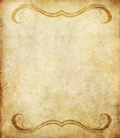 пергамент: старые справочный документ с гранж стиле винтаж