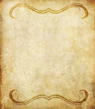 old grunge paper background with vintage style  photo