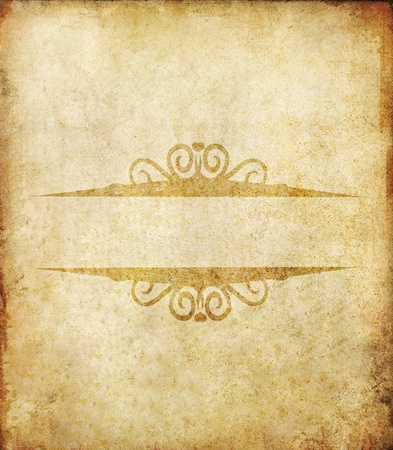 old grunge paper background with label vintage photo