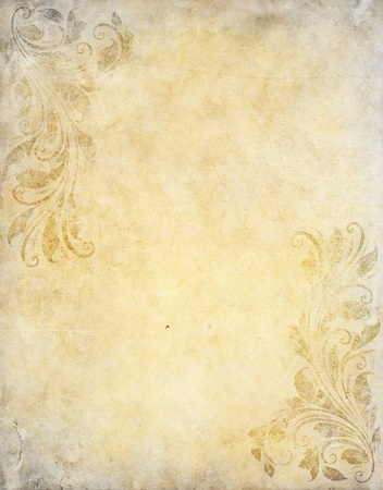 cover pages: old grunge paper background with vintage victorian style