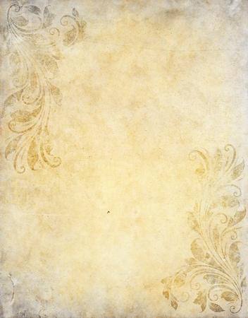 parchemin: vieux papier de fond grunge avec style victorien mill�sime