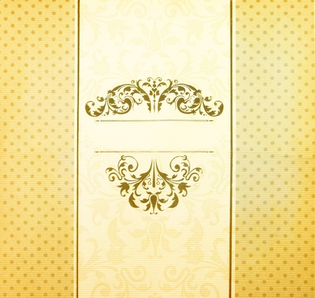 invitation vintage label paper with polka dot style Stock Photo - 12770709