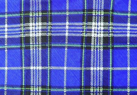 Blue tartan fabric texture  photo