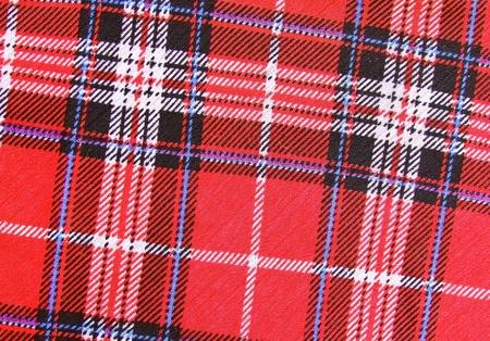 Red tartan fabric texture  photo