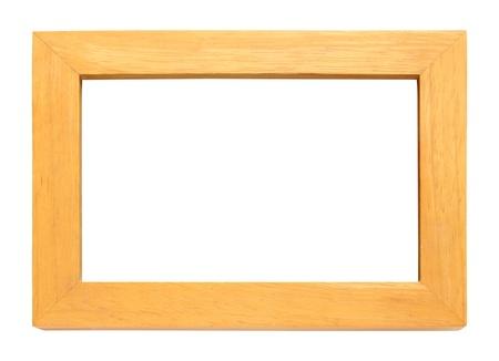 Wooden photo frame isolated on white background photo