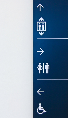toilet symbol: Airport or building signs Stock Photo
