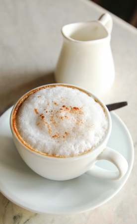 Coffee Latte or Cappuccino with milk photo