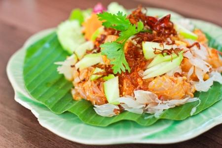 Fresh thai pomelo salad photo