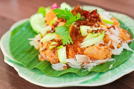 Fresh thai pomelo salad photo