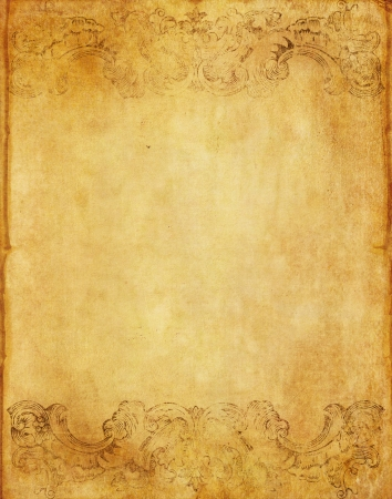 old grunge paper background with vintage victorian style  photo
