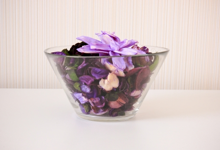 Dried flower in bowl for spa photo