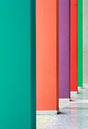 Colorful hallway with different color wall photo