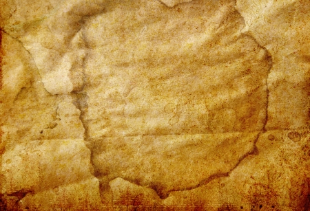 old grunge paper background with stained photo