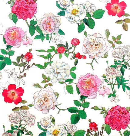 Beautiful retro flower on canvas paper Stock Photo - 16159485
