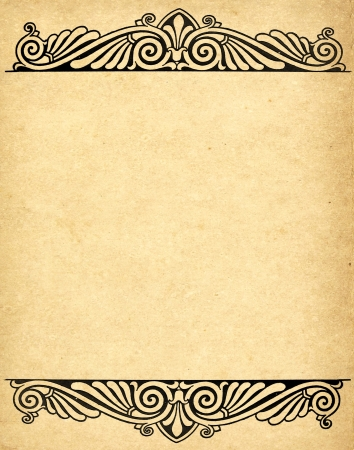 old grunge paper background with victorian style  photo
