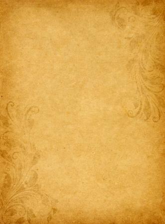Fundo de papel velho do grunge com estilo victorian vintage