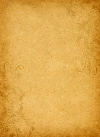 parchemin: vieux papier de fond grunge avec style victorien, mill�sime Banque d'images