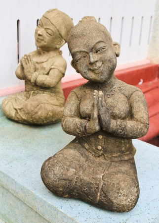Welcome clay doll, Thai style photo