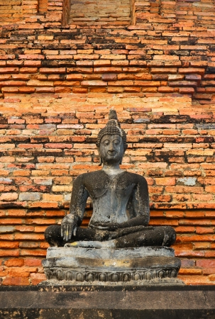 Ancient buddha in Sukhothai historical park, Thailand Stock Photo - 16849825