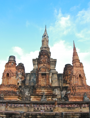 Ancient buddha in Sukhothai historical park, Thailand Stock Photo - 16939599