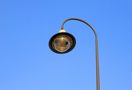 street light against a blue sky Stock Photo - 17121315